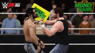 WWE 2K16 Recreation: Dean Ambrose Cashes in Money in the Bank on Seth Rollins Money in the Bank 2016