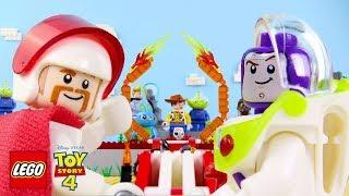 LEGO Toy Story 4 STOP MOTION LEGO Buzz vs Duke Caboom Stunt Show | LEGO Toy Story 4 | Billy Bricks