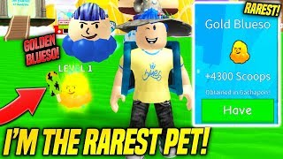 NEW INK PETS AND YOUTUBER PET GACHAPON IN ICE CREAM SIMULATOR UPDATE!! *I'M THE RAREST PET* (Roblox)