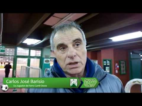 Entrevista a Carlos Barisio Arquero Record del Fútbol Argentino Valla Invicta por 1075 minutos en Ferro Carril Oeste Homenaje tras cumplirse 34 años Caballito 17/07/2015.