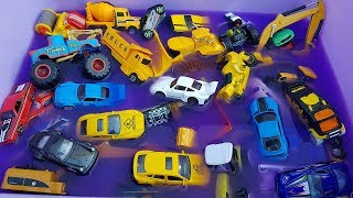 Car Toys Playing For Kids | Small Road Roller Excavator Dump Truck Racing Car Toys For Children