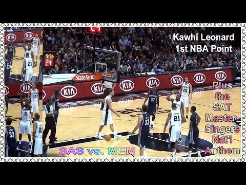 San Antonio Spurs - 2011-12 Season Opener (Kawhi's 1st Game & MasterSingers Anthem)
