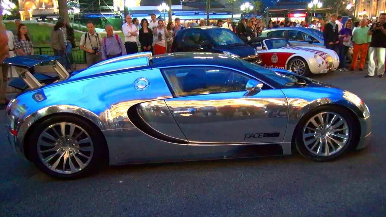 bugatti veyron 16 4 in chrome sound exhaust chrom youtube. Black Bedroom Furniture Sets. Home Design Ideas