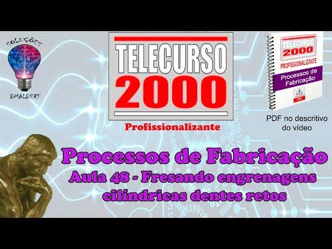 Telecurso 2000   Processos de Fabricacao   48 Fresando engrenagens cilindricas dentes retos