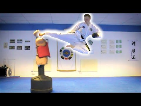 Taekwondo Kicking And Training Sampler On The Bob Xl video