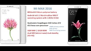 Mi Max 2016 Edition Updated & Hands On Overview MIUI 9 | 4K (Exclusive)