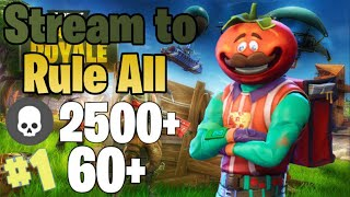 Stream to school all (Fortnite) (2500+ KILLS!) (60+ Wins!)