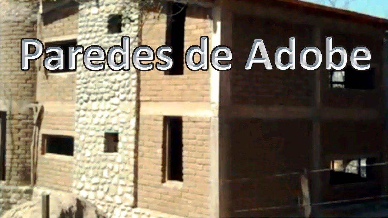 Revoque interior sobre muro de adobe youtube - Como colocar ladrillos en una pared ...
