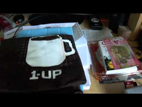 Unwrapping a shirt from Woot Shirt