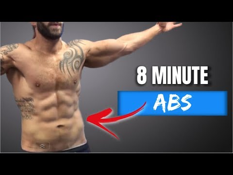 8 Minute Real-time  Ab Workout (Using Only a Ball)