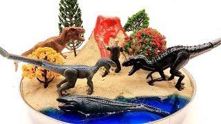 Dinosaur Volcano Eruption Island Jurassic World2 Fallen Kingdom Dinosaurs mosasaurus indoraptor rex