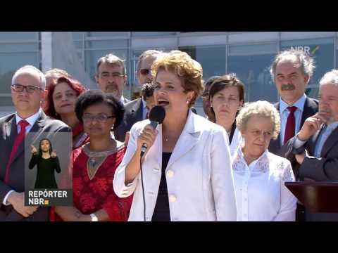 Dilma Rousseff discursa após ser afastada