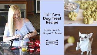 Fish Paws Grain-Free Dog Treat Recipe | Proud Dog Mom