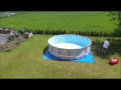 Pool Aufbau