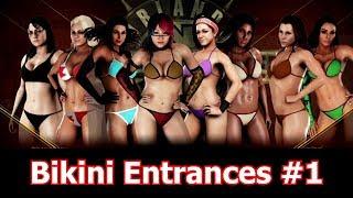 EIGHT sexy bikini Entrances #1   WWE 2K18 bikini barefoot entrances   WWE 2K18 bikini