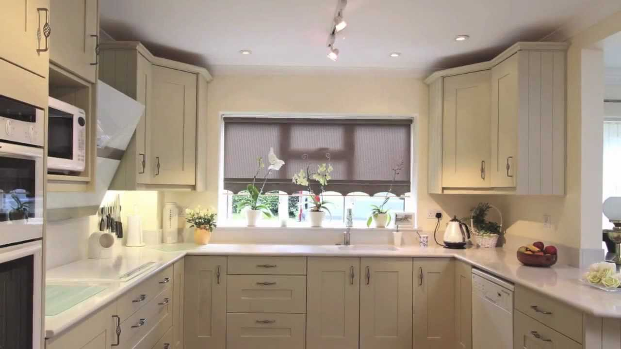 Sage Green Painted Shaker Kitchen Ropley Near Winchester Hampshire Beau Port Kitchens