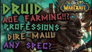 Resto Druid AOE gold farming?! | DME Jump runs | Tribute stealth runs | How to farm gold as a druid