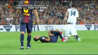 Barcelona v Real Madrid Spanish Supercup. HIGHLIGHTS 1ST LEG 23 aug 2012