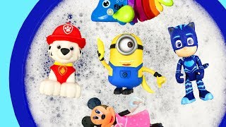 Learn with Surprise Eggs, Learn Characters with Bucket of Water - Pj Masks, Paw Patrol For Kids