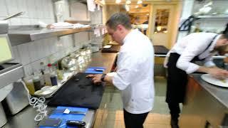 Busy service at 3 star restaurant Schwarzwaldstube, Germany