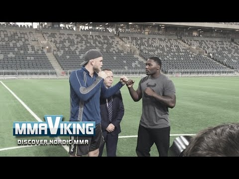 """Gustafsson and Johnson Agree... Tele2 Arena is """"Dope"""""""