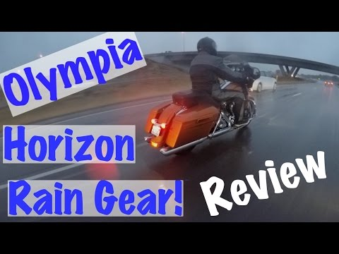 Olympia Horizon Motorcycle/Biker Rain Jacket & Pants Review | Biker Podcast