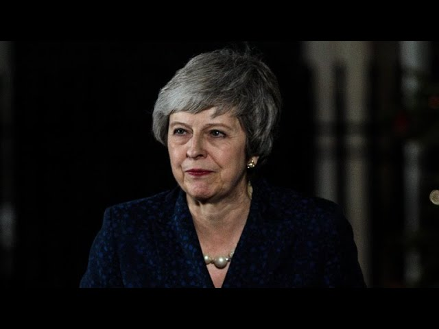 British Prime Minister Theresa May survives no-confidence vote