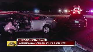 Three killed in wrong-way crash in Hillsborough County