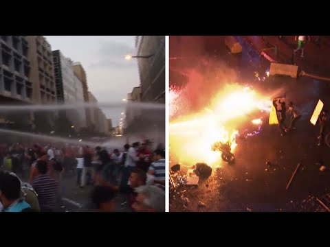 Beirut protest turns anti-govt: More tear gas, water cannons