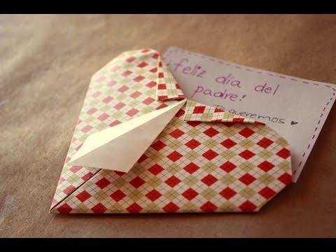 Corazon camisa // origami - Dia del padre - YouTube