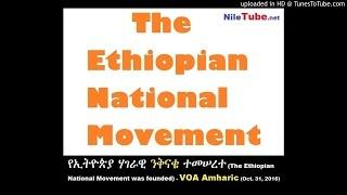 የኢትዮጵያ ሃገራዊ ንቅናቄ ተመሠረተ (The Ethiopian National Movement was founded) - VOA Amharic (Oct. 31, 2016)