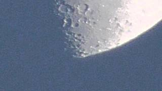 Panasonic HC-V550 Zoom test to moon