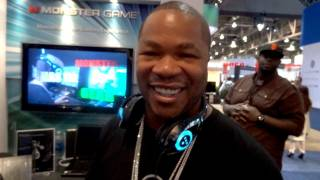 Xzibit Shows Off Monster's T1 Gaming Headset / Headphones