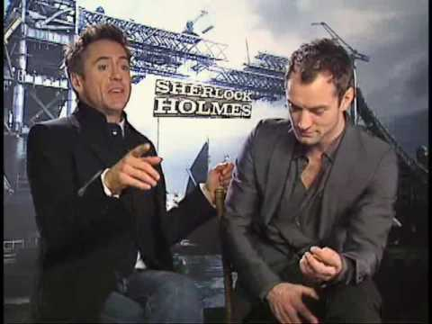 Sherlock Holmes Robert Downey Jr. and Jude Law Interview Video