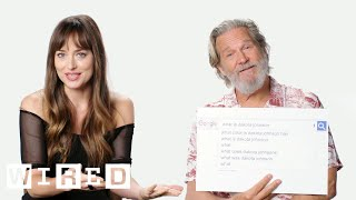 Dakota Johnson & Jeff Bridges Answer the Web