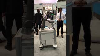 Collaborative robot in action at Automatica 2018