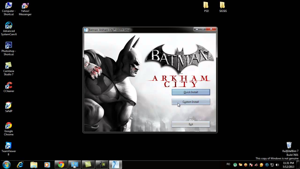 Install Batman Arkham City Game of the Year Edition ...