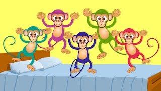 Five Little Monkeys | kids songs | nursery rhymes | kids tv | kids tv songs | 5 lil monkeys