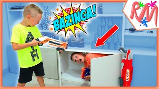 Nerf Hide and Seek Challenge with new Nerf blasters