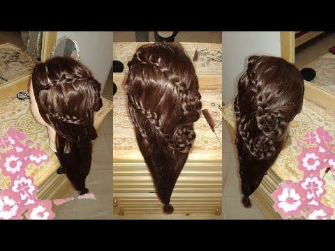 nuevos peinados faciles rapidos y bonitos para fiestas de moda 2015 - para cabello largo y mediano
