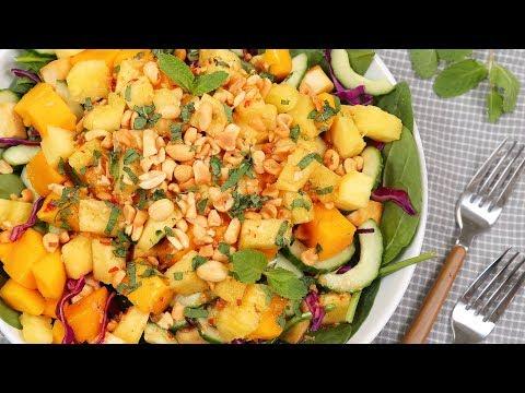 3 EASY Dinner Salads | BLT Salad, Tuscan Bean Salad & Rojak Salad