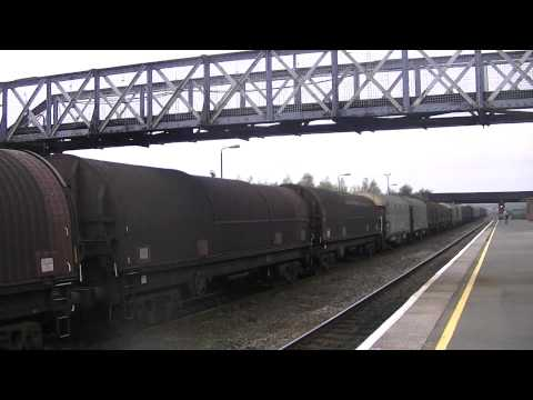 **Mega Horn Blow** 66016 blasts past Severn Tunnel Junction with steel train
