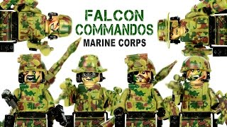 Falcon Commandos Marine Corps LEGO KnockOff Minifigures Brick Warfare