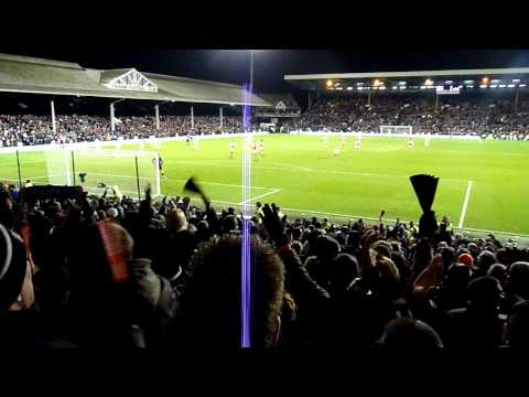 Fulham v Arsenal 2nd January 2012 - Bobby Zamora winner