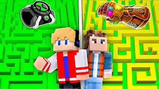 LABIRINTO OMNITRIX BEN 10 vs LABIRINTO MANOPLA DO INFINITO DO THANOS NO MINECRAFT !