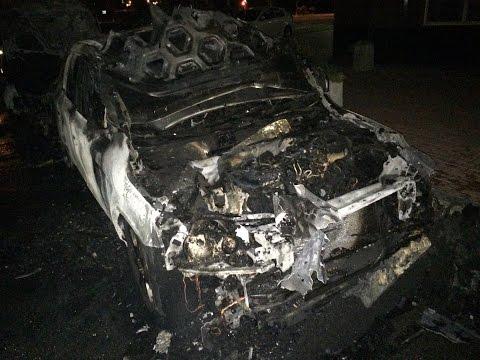 Взрыв машины во дворе Героев Сталинграда 2Г (05.08.2015)