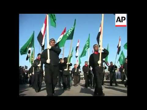 Mahdi Army militia carried out military parade