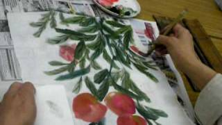 藍田婦女會書畫班 Chengtaikwo Painting course, 3 may 2010 in Lam Tin Women