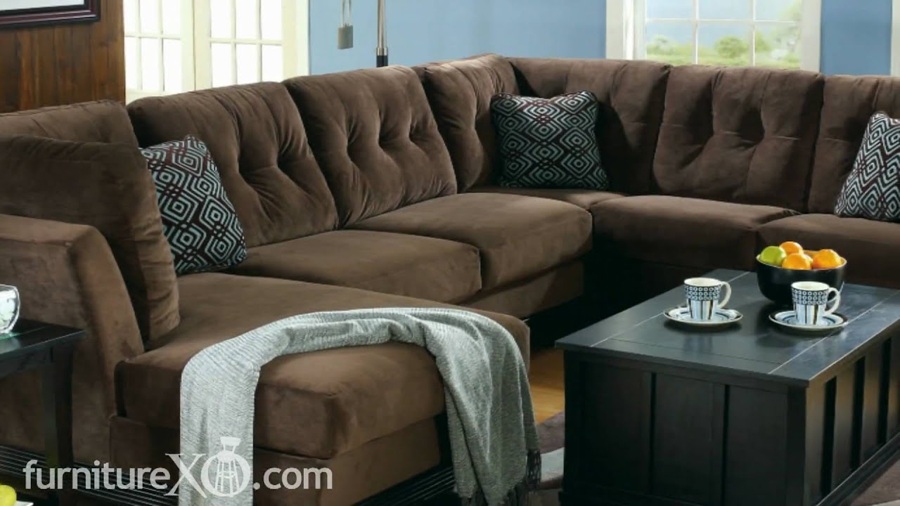 Peyton Espresso Sectional Living Room Set By Signature Design By Ashley Furniture Youtube
