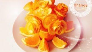 Art In Orange Show 《Made Easy Tutorial》 Fruit Carving Orange Rose Flowers